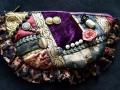 DL333 victorian crazy patch pouch