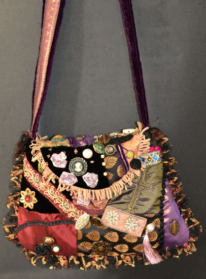 victorian collage shoulder bag