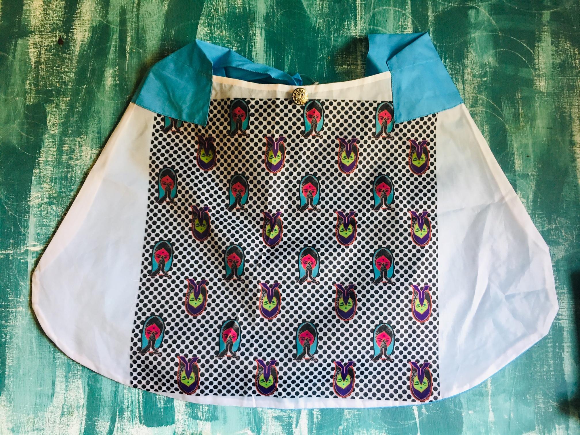 DL19-57 foldable shop bag namaste