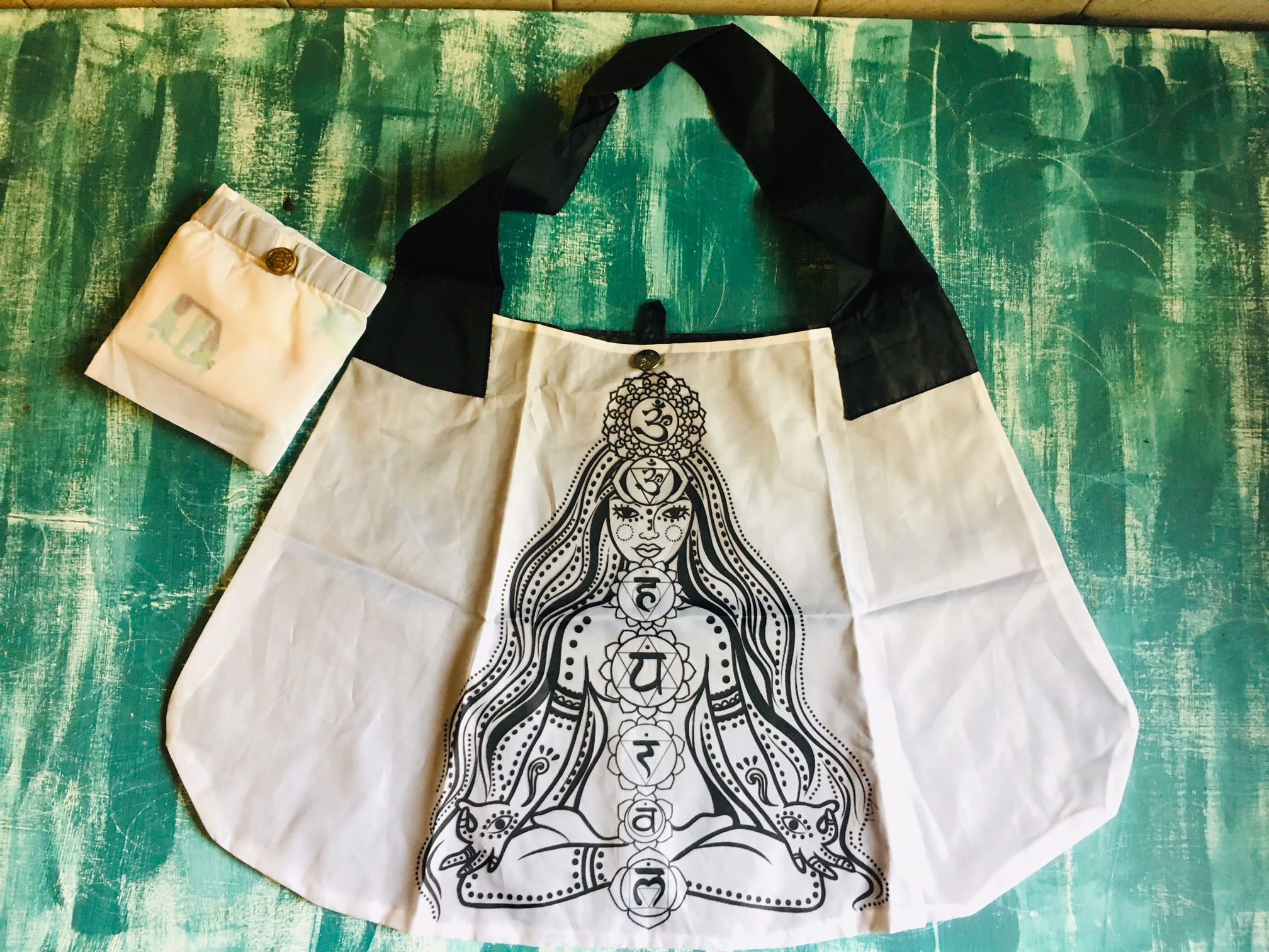 DL52 foldable shop bag chakras