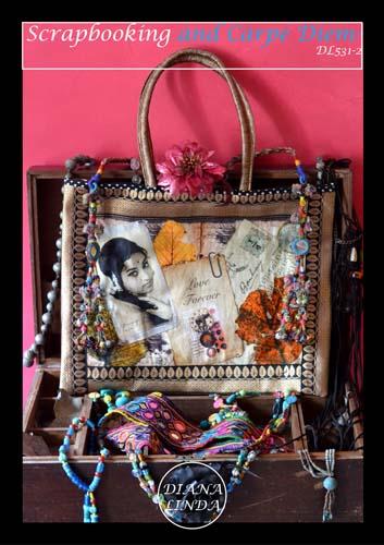 DL531 2 multi zip bag love forever