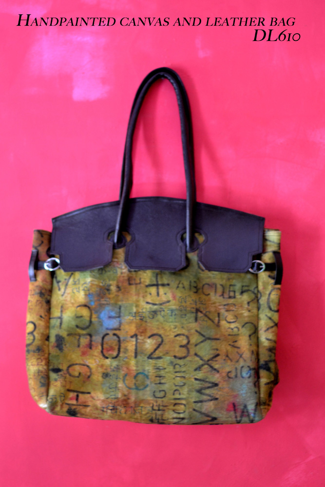 DL610 hand painted bag