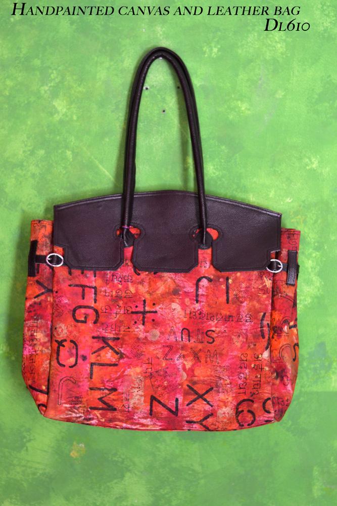 DL610 handpainted alpha bag