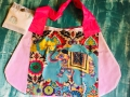 DL19-55 foldable shop bag Blue elephant