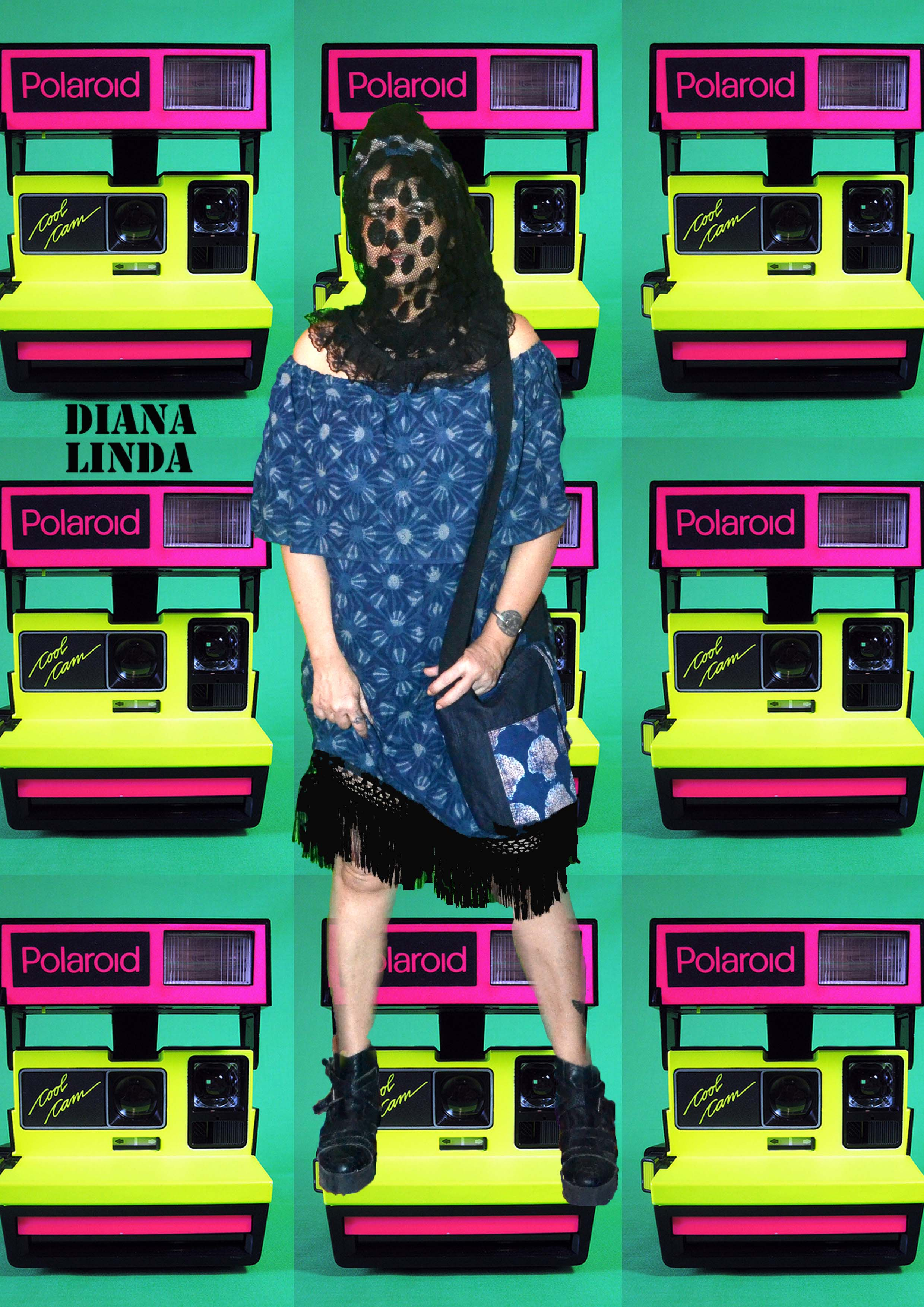 DL 879 Short Dress Indigo Print FRONT VIEW