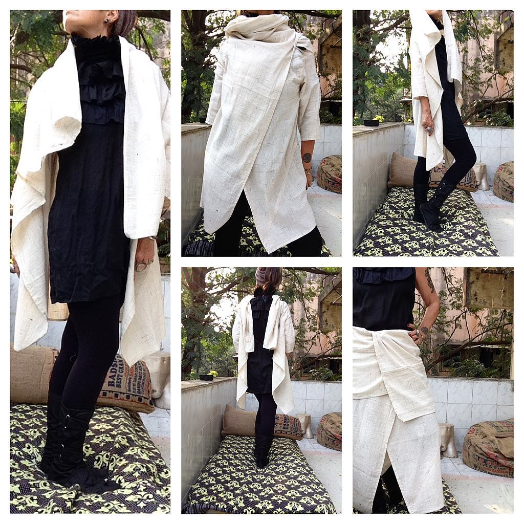 DL19-41 SQUARE LONG JACKET MULTI USE