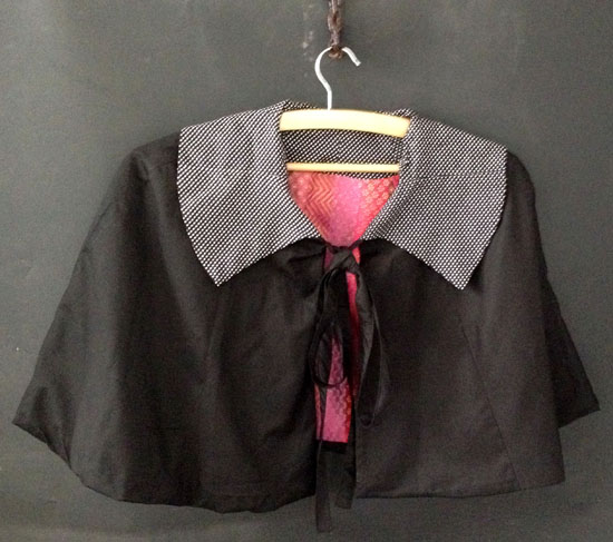 DL500 black cape brocade
