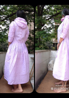 DL19-35 PINK DRESS WITH HOOD