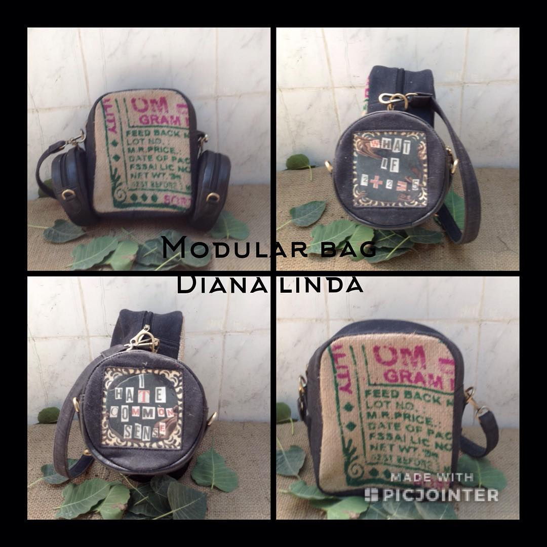 DL19-21 UPCYCLING JUTE MODULAR BACK PACK