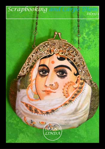 DL 553-7 indian lady painting
