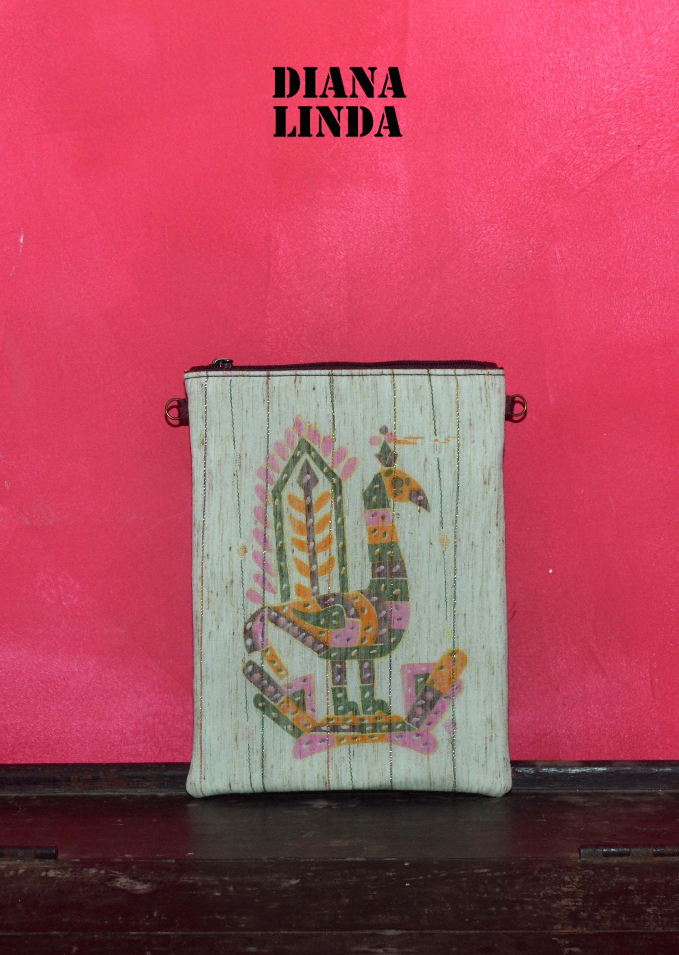 DL 754 SAREE PEACOCK SLING POUCH