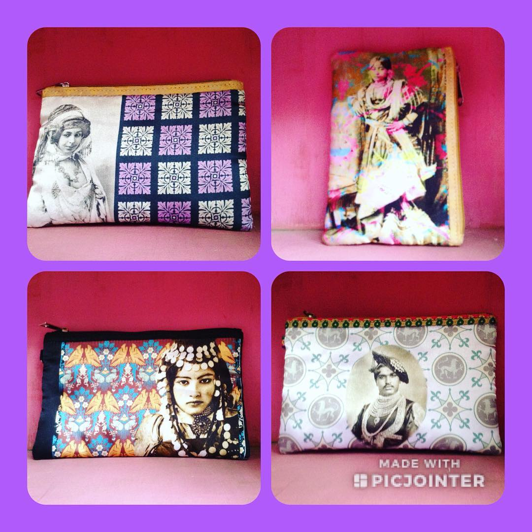 DL19-29 MEDIUM AND BIG POUCHES SATIN DIG PRINT