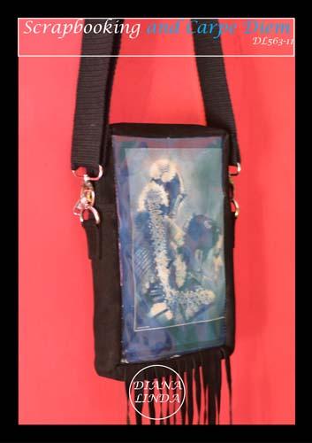 DL 563 11 LEATHER TASSLE SLING BAG CYNOTYPE