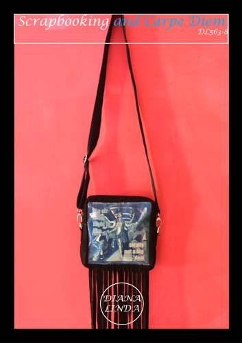 DL 563 8 LEATHER CYNOTYPE TASSLE SLING BAG