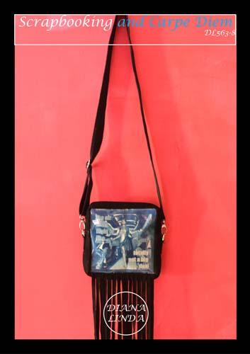 DL 563 8 LEATHER CYNOTYPE TASSLE SLING BAG