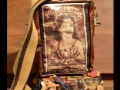 DL522 sling cyanotype sepia bag with leather